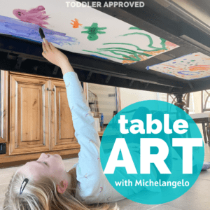 Easy Michelangelo Kids Art Activity