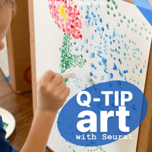 Easy Art Projects: Q-Tip Painting Seurat