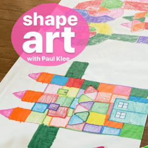 Paul Klee Inspired Shape Art Project for Kids