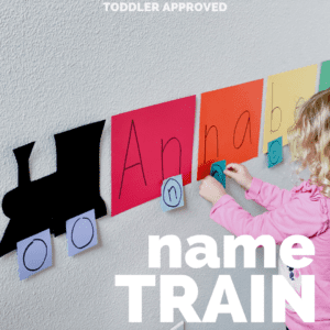Name Train Preschool Matching Activity