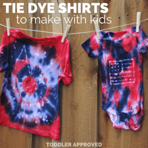Cool Tie Dye Shirts to Make with Kids