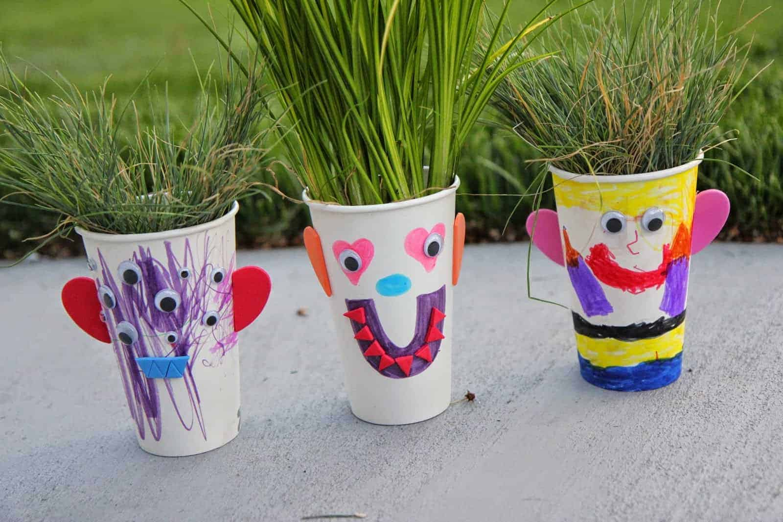 grass art project for kids