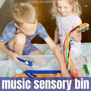 Music Sensory Bin Hands-On Learning Activity for Kids