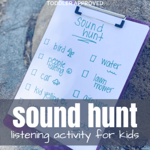 Sound Scavenger Hunt Listening Activity for Kids