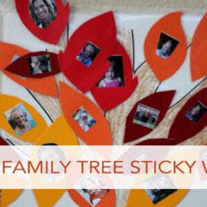 Fall Tree Photo Sticky Wall for Toddlers