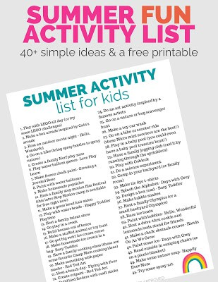 summer fun activity list