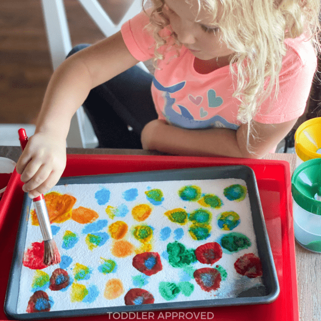 ice painting kids activity