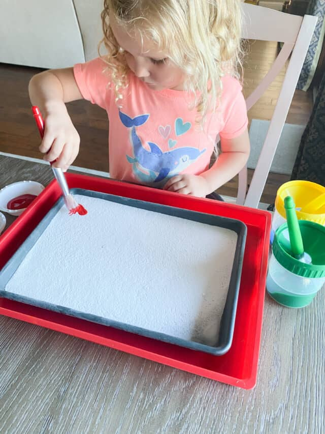 baking soda and ice painting