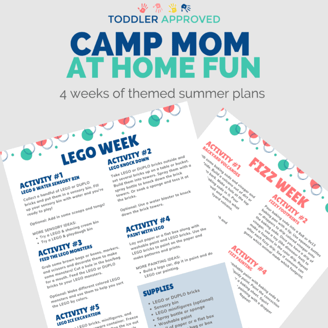 camp mom printable summer camp plans