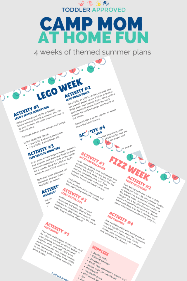 printable Camp Mom summer camp activity plans