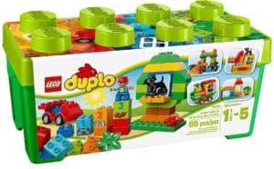 box of LEGO duplo bricks