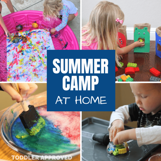 painting with water balloons, feeding the lego monsters, painting on ice, and doing ice excavation