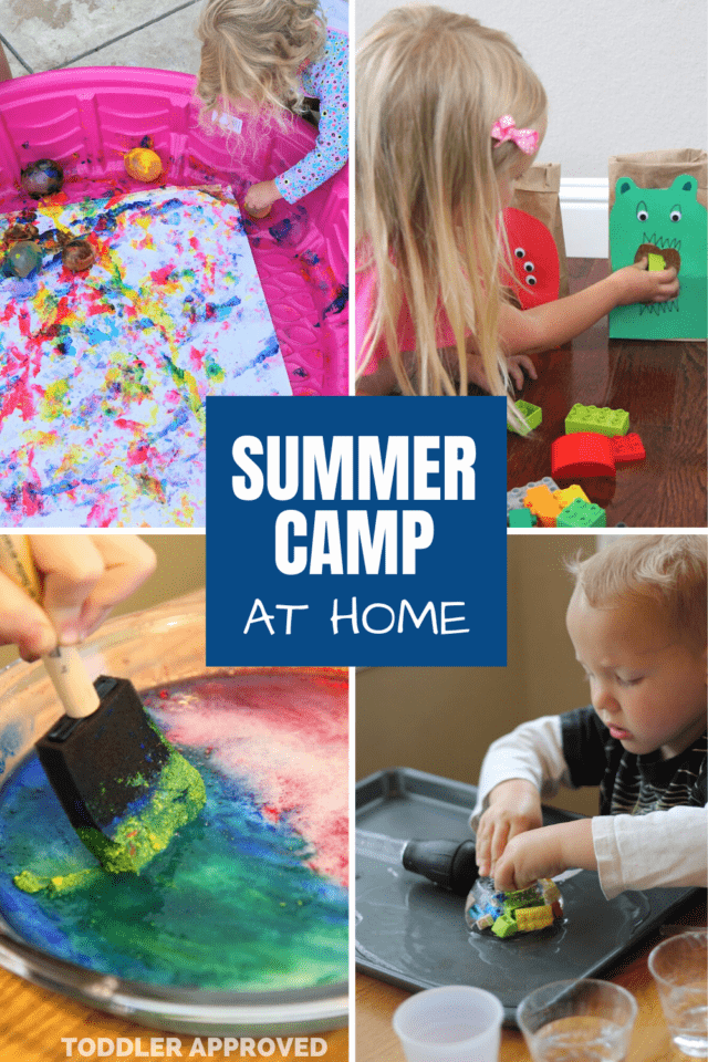 4 weeks of summer camp at home ideas for kids
