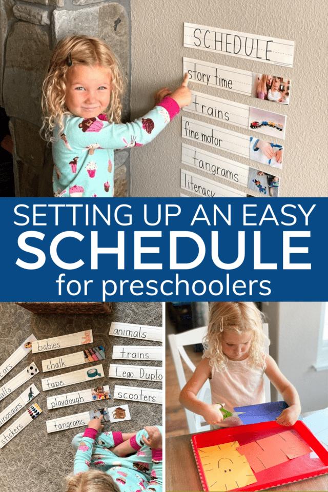 simple schedule for preschooler