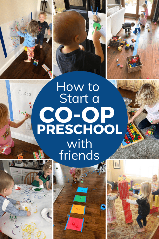 make a homeschool preschool co-op with friends