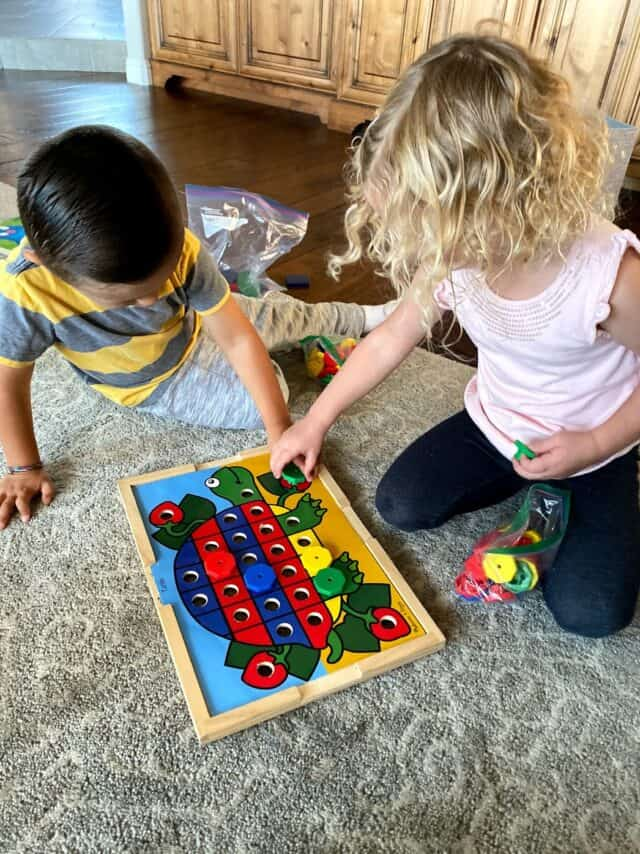 kids playing with puzzles