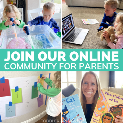 Join our online community for toddler and preschool parents