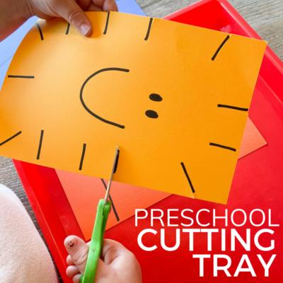 scissor skills activity for preschoolers