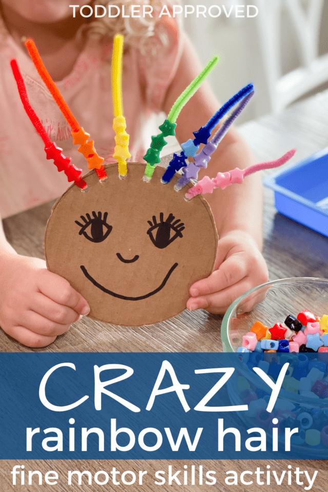 rainbow beading activity for kids