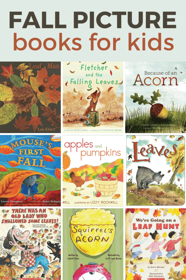 books about leaves, acorns, apples, and pumpkins