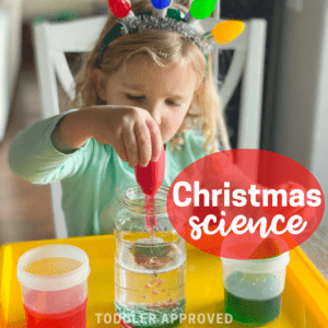 Christmas Science Activity: Oil and Water Experiment