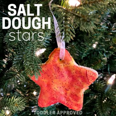 salt dough star ornament