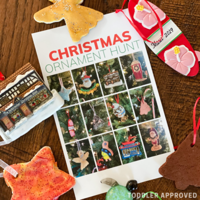 Christmas tree ornament I-spy game for kids