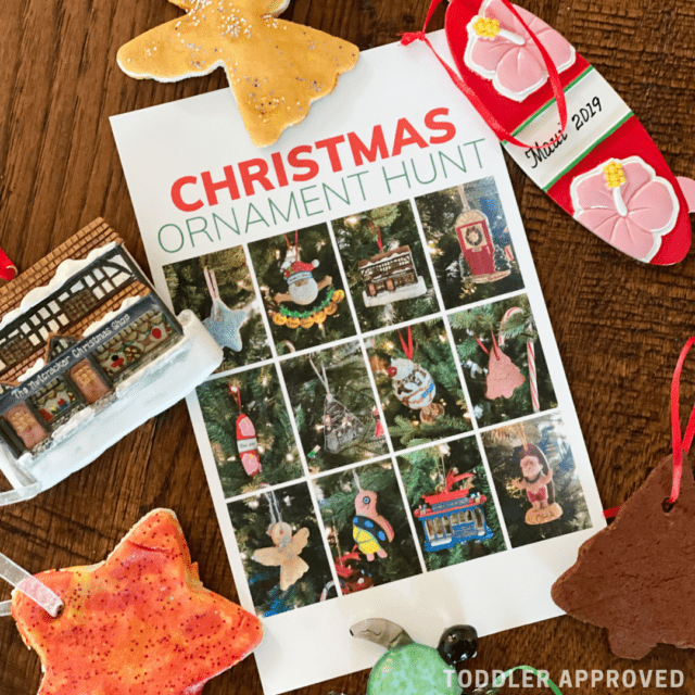 Christmas tree ornament I-spy game for kids