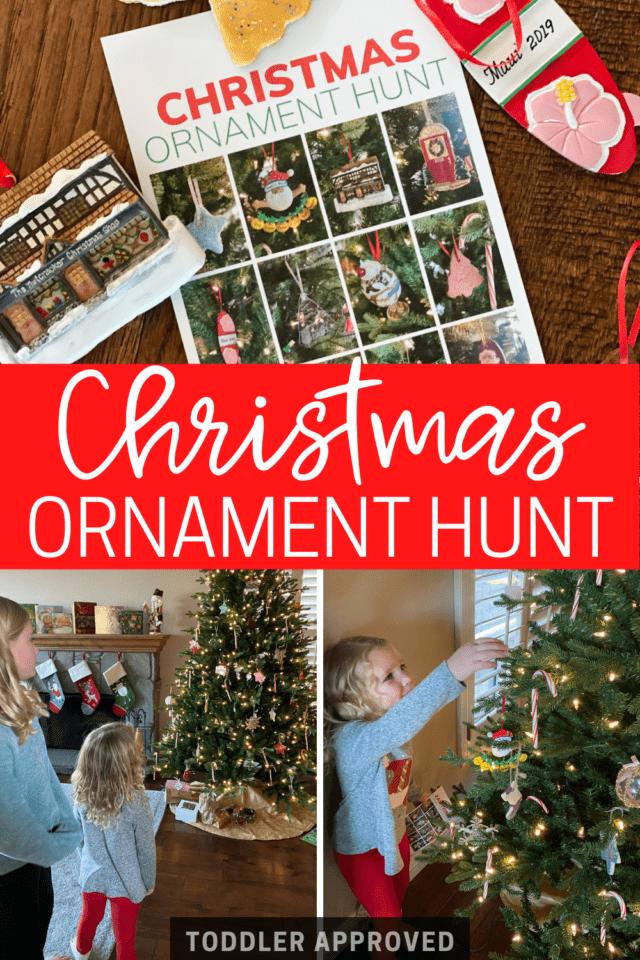 Christmas Tree Ornament I-Spy game