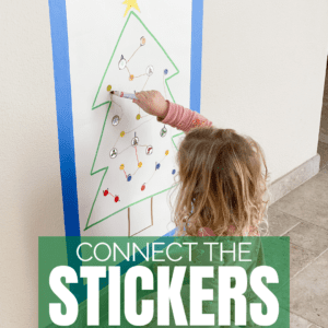 Connect the Stickers Christmas Fine Motor Activity
