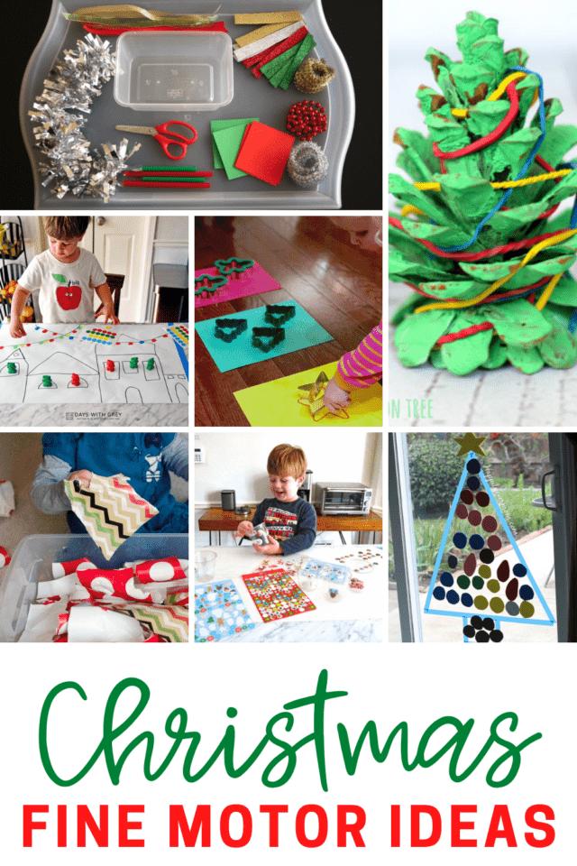 simple christmas activities that help kids work on fine motor skills