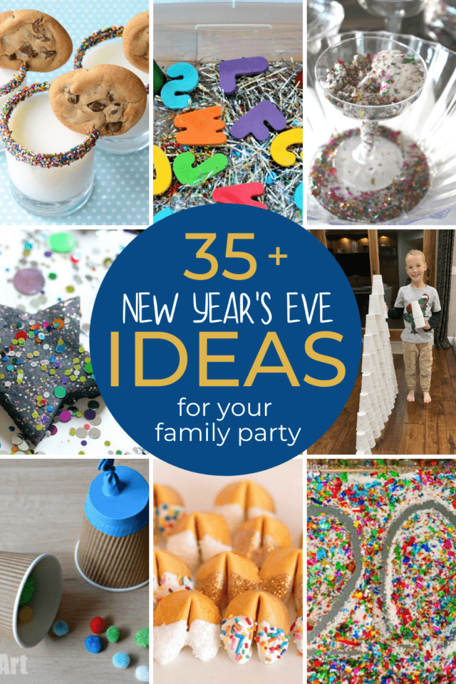 New Year's even snacks, games, crafts, and activities for kids