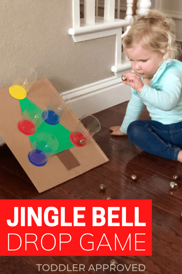 easy to set up jingle bell game using a cardboard box