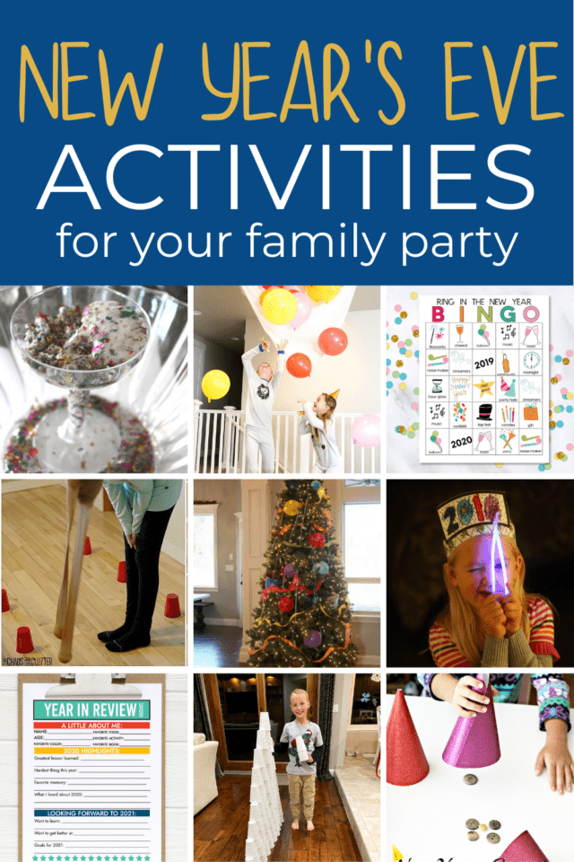 Family party activities for New Year's eve