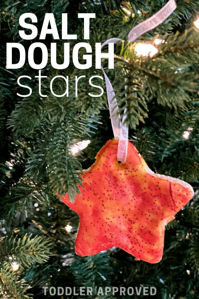 salt dough star ornament