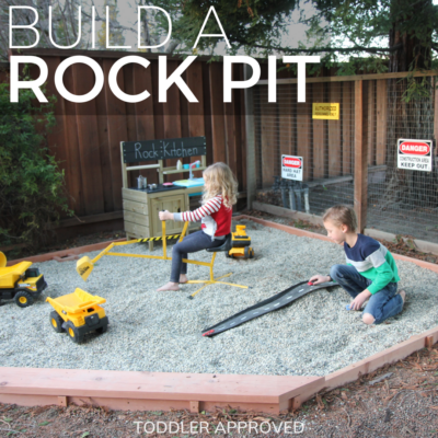 build a rock pit in your backyard
