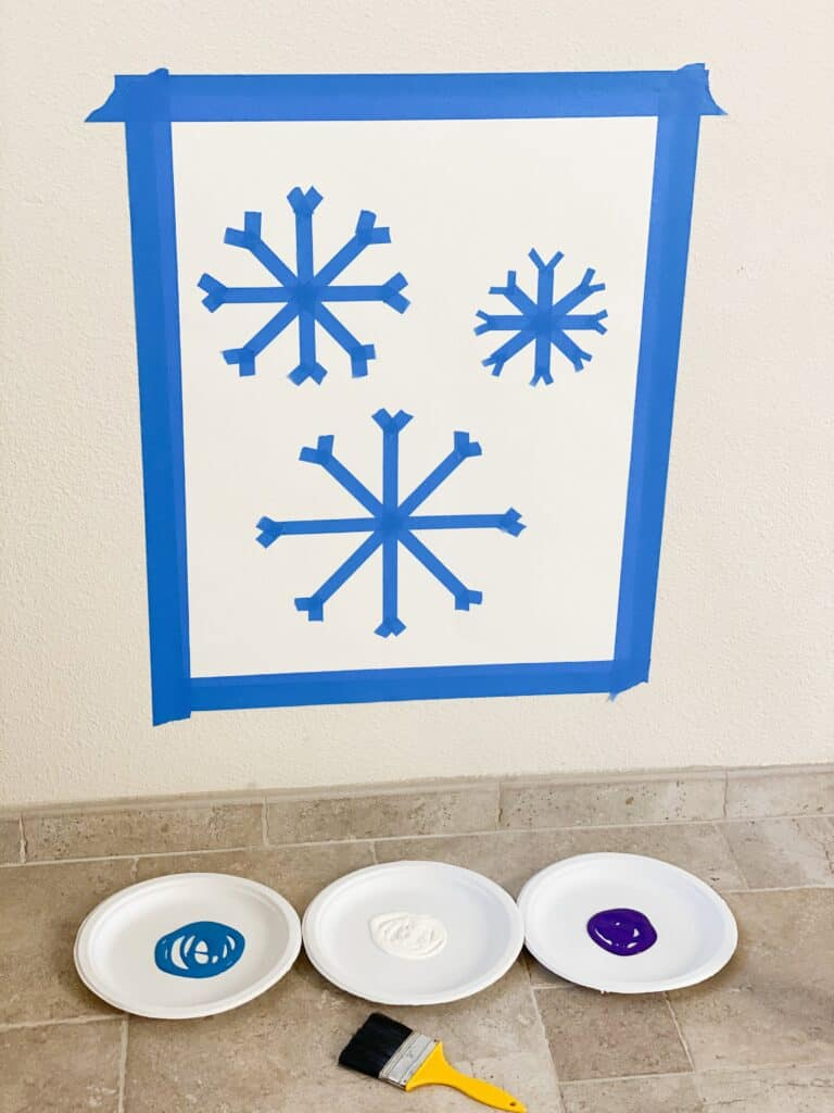 Tape Resist Snowflake Winter Art Activity Toddler Approved