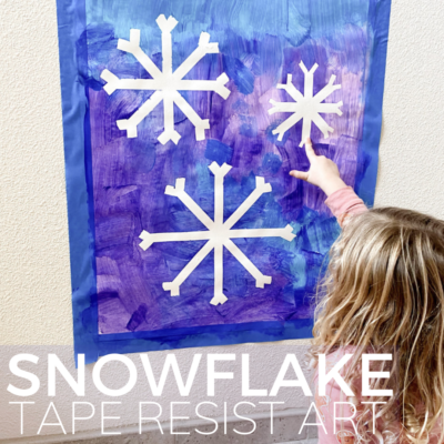 easy tape resist snowflake art project