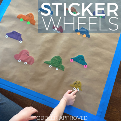 easy car themed sticker activity