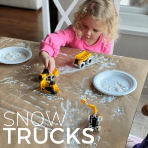 Snow Trucks Winter Art Activity