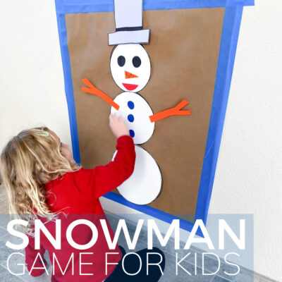 build a snowman hunt for kids