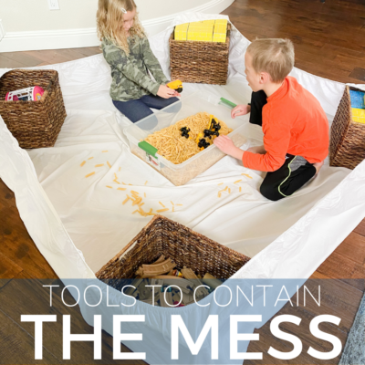 tips for containing kid's messes