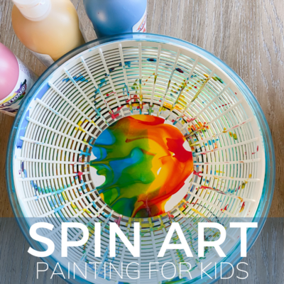 colorful rainbow spin art painting