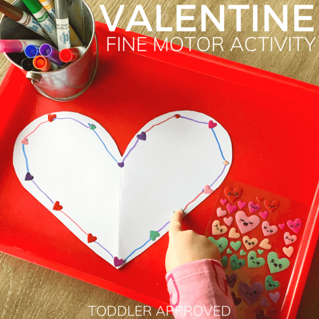 Connect the Dots Valentine Fine Motor Activity