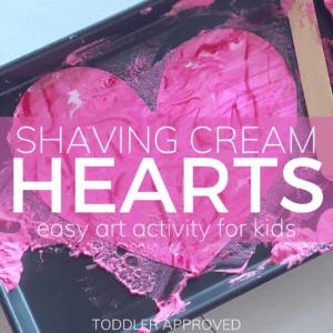 Shaving Cream Hearts Art Activity