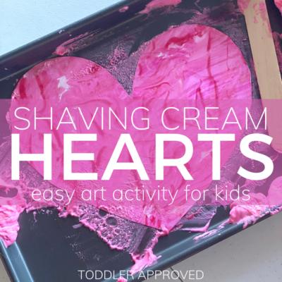 shaving cream marble hearts