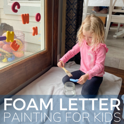 stick the foam letters on the window