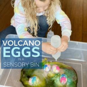 Baking Soda Easter Science Sensory Bin