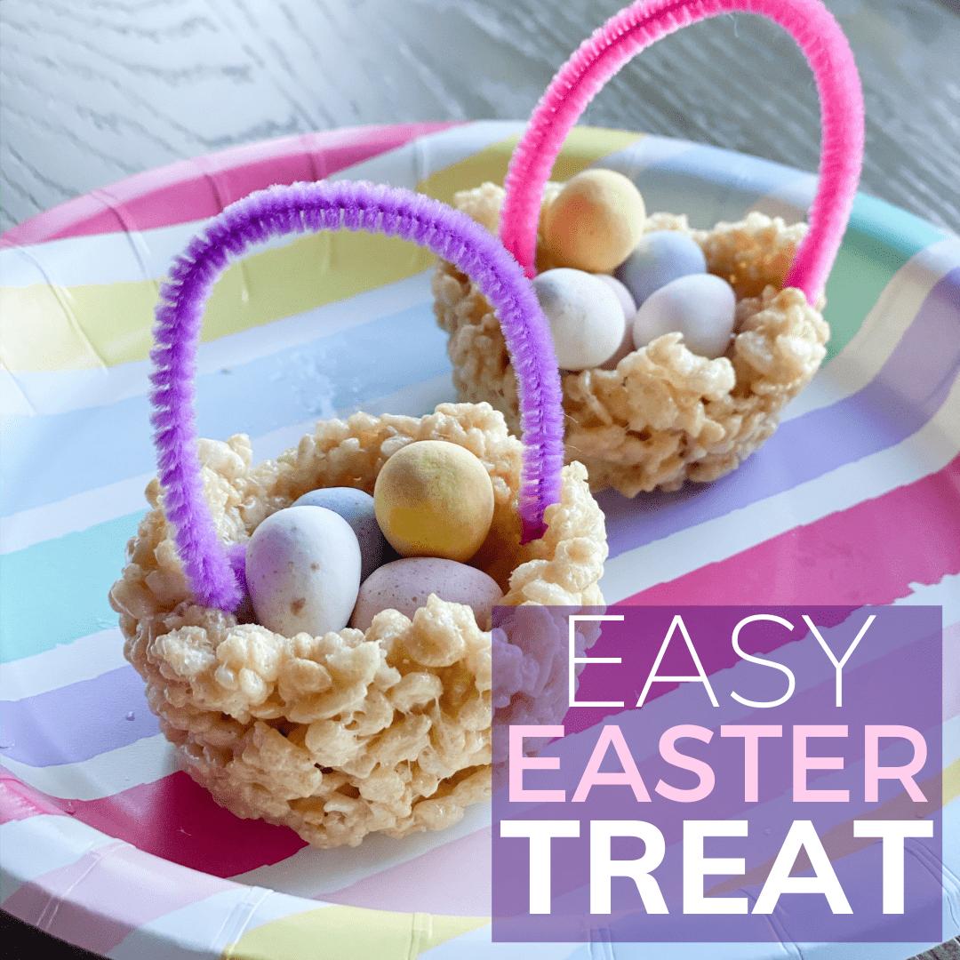 easy Easter rice crispy baskets for kids to make