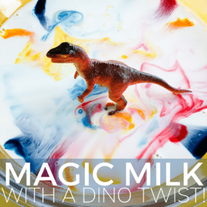 Magic Milk Science with Dinosaurs